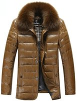 aviator winter jacket - Fall Latest Winter Brand Men Leather Jacket Mens Clothing Sheepskin Thicken Warm Leather Jackets Aviator Fur Coat Jaquetas Couro