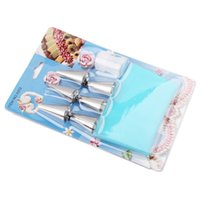 Wholesale Cooking Tools icing Bag Big size Re useable Cake Silicone Icing Bag Pastry Bag Eco Friendly Piping Bags DIY Tools with pastry tubes