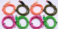 android mail - Hot V8 Android woven data line USB micro nylon colored woven charging line m packet mail DHL