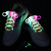 Cheap HOT LED Shoe Flashing shoelace light up Disco Party Fun Glow Laces Shoes 500pcs lot=250pairs Halloween Christmas gift Free DHL FedEx