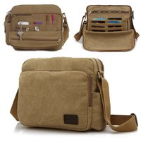 Wholesale High Quality Multifunction Retro Vintage Canvas Bag Casual Travel for Men Crossbody Shoulder Bag Men Messenger Bags