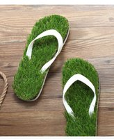 Wholesale Retails New Fashion The Summer Lady Women Man Soft Beach Sandals Sliper Flip Flops With The simulation of Lawn S0140257