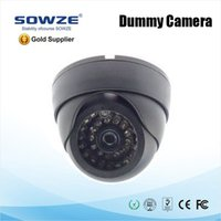 Wholesale Dome Dummy Security CCTV Camera with Red Blinking LED Fake Motion Detector Sensor Waterproof camera Deter Robbery