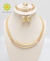 big earrings indian - K Gold Filled Popular Necklace Earrings Bracelet Ring African Fashion Women Big Jewelry Sets