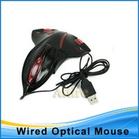 Wholesale Black Cool Fighter Jet Shaped Wired Optical Mouse For Computer Notebook Laptop PC