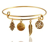 antique bangle bracelet - Antique Alex And Ani Expandable Wire Ring Charms Bangles Pendants Free Combination Statement Bracelets For Women Stocks