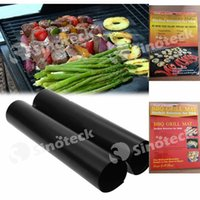 Wholesale BBQ Grill Mat Barbecue Grilling Liner Teflon Portable Non stick Reusable Make Grilling Easy CM MM Oven Hotplate Mats UPS PC Pack