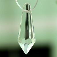 Wholesale Hot Sale Mini Clear Crystal Glass Lamp Curtain Prisms Part Hanging Drop Pendant Decor Beautiful Design order lt no track