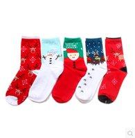 Wholesale New Cute Women s Snowflake Deer Printed Wool Socks Casual Ladies Christmas Gift cotton women winter socks warm your foot CG10