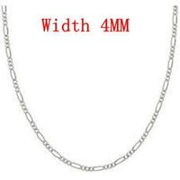 Wholesale Fashion Jewelry MM Sterling silver Stamp Figaro chain choker necklace quot quot Ch