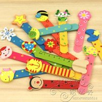 Wholesale Free ship pc as a Creative gift lovely cartoon wooden bookmarks ruler