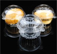 Wholesale Cupcake Box Cupcake Clear Plastic Box Muffin Pod Dome Holder Cup Cake Case container e4988 transparent
