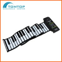 Wholesale Silicon Keyboard Roll Up Piano with Loud Speaker US Plug Key Flexible Electronic Piano with Demonstration Songs