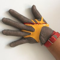 Wholesale Chain mail mesh glove Stainless Steel Mesh Glove Butcher Glove Chain Mesh Glove Personal Protective Glove Long Cut Levels Work Gloves