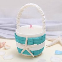 Wholesale The new wedding supplies Turquoise design wedding flower basket