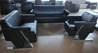 modern sofa leather - Hot sales modern sofa sofa set brown color synthetic leather sofa