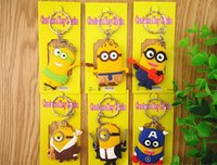 Wholesale 2016 latest style god steal dads despicable me d creative cartoon Key chain gift yellow people YCK43