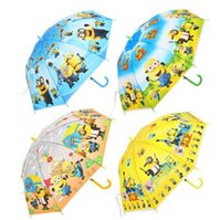 Wholesale 80pcs New Despicable me Umbrella Cute Children s Cartoon Umbrellas Student Rain and Sun Proof Princess Umbrella baby girls boys umbrella