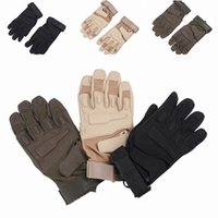 Wholesale Winter Warm Motorcycle Cycling Racing Riding Gloves Outdoor Sports Blackhawk Camping Five Fingers Gloves Style Choose EME
