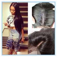 Cheap middle part silk closure Best silk base closure