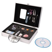 eyelash extension kit - Professional False Extension Eyelash Glue Brush Kit with Case Box Salon Tool Brand New hot