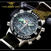 Wholesale 2015 Watches man AMST luxury brand Quartz Sport Clock Digital LED wristwatch Army Military watch dive m relogio masculino