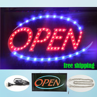 advertising restaurants - squire led open sign animated advertising shop sign