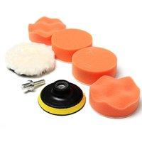 auto polishing supplies - New Set Polishing Buffing Pad Kit for Car Polishing with Drill Adapter Buffing Pad Kit Auto Truck Boat Polisher Tools Supplies A5