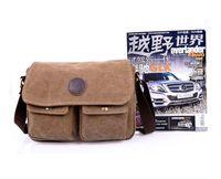 Wholesale Best Deal New Fashion Good Quality Casual Unisex Retro Canvas Bag Messenger Shoulder Bag Satchel Large Schoolbag Gift pc