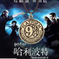 alloy express - 2015 new Harry Potter Necklace Platform alloy Pendant Hogwarts Express Pendant Fillm Jewelry