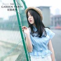art institute - TGP summer new Korean women loose single breasted Color Art Institute wind shirt female