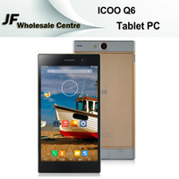 Cheap ICOO Q6 Tablet PC MTK8382 Quad Core 1.3GHz 7.0 Inch Android 4.4 IPS Screen Dual Cameras 1GB 8GB Wifi GPS 3200mAh Dual SIM Card Phablet Gold