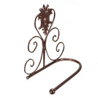 Wholesale High quality Bronzy Classical Iron Toilet Paper Roll Holder Bathroom Wall Mount Rack