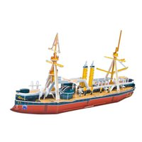 battleship games free - Classic Style DIY Funny pirate ship Battleship Model D Educational Jigsaw Puzzle Toy Family Game