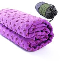 Wholesale New Microfiber Plum shaped Skid Particles Yoga Mat Towels Color Assorted