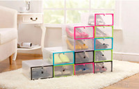 plastic drawer storage box - New Plastic Transparent Drawer Case Shoe Storage Organizer Stackable Box