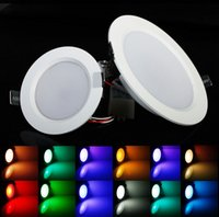 rgb led panel - New W w RGB LED Ceiling Down Lights Recessed spot Lamp Bulbs panel light with Remote Ctrl