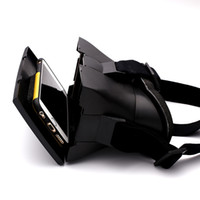 Wholesale Hot Selling Black D Video Glasses Universal Virtual Reality For Cell Phones Google Cardboard Movie Cinema Convenient Eyewear
