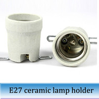 Wholesale 10PCS E27 ceramic lamp base special crawler wooden tortoise box cap screw thread port ceramic lamp holder