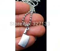 beaded knife - Fashion Vintage Necklace Antique Silver Alloy Kitchen Knife Necklace Pendants Fashion Necklace DIY Metal Jewelry S3658