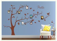 american family home - Large Size Brown Family Photo Frames Tree Wall Stickers DIY Home Decoration Wall Decals Modern Art Murals for Living Room