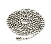 jewelry stainless steel findings - 50cm Chains Necklace Stainless Steel Ball Beads Bamboo Chain Men Women Chains Necklace Jewelry Finding Components