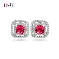 asian online shopping - Teemi New Hot Arrival Women Fashion Online Shopping White Gold Colors Jewellery CZ Micro Pave Halo Design Stud Earring