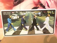 Wholesale AT34 Abbey Road Beatles Car license plate Vintage Metal Tin Signs Bar Pub Cafe Home Art Metal Signs Size cm