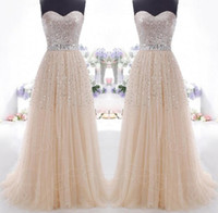 High Neck stockings - Read To Ship In Stock Prom Dresses Under Champagne Strapless Lace Up Back A Line Evening Dresses Pageant Gowns Formal Dress CPS089