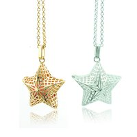 bell charm - Fashion Pendants Necklace Baby Musical Chime Bells Color Star Charms Copper Cage Angel Necklace For Women Jewelry