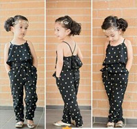 Wholesale girls Rompers clothes kids Girls harness heart shaped piece clothing set kids summer Jumpsuit clothes hight quality