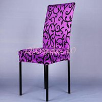 Wholesale 300pcs CCA3328 Flower Printed Office Chair Cover Wedding Decoration Polyester Spandex Dining Chair Cover Wedding Party Washable Chair Cover