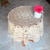 Cheap Free shipping 2014 new IKEA cotton crochet lace table cover tablecloth with flowers decor innovative item vintage cutout towel