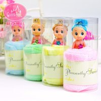 Wholesale 10pcs wedding cake towel gift Couple wedding cake towel birthday gift creative activities lovely fairy tale Barbie Bear Valentine s Day Gift